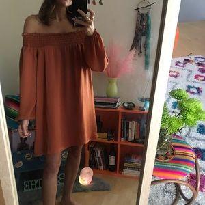 NWT   nasty gal   off-shoulder satin dress